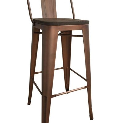 Cafe Style High Stool- Vintage Copper